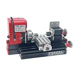 Signswise 24W 20000rpm Motorized Mini Metal Working Lathe Machine DIY Tool Metal Woodworking for Hobby Science Education Modelmaking