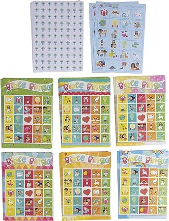 Paquete de juego de bingo de la Biblia – Juego de 36 juegos de suministros de educación