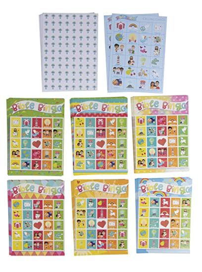 image about Free Printable Bible Bingo Cards known as Bible Bingo Match Pack - 36-Fixed Young children Biblical Education and learning Christian Bash Components Sport Package, 2 in the direction of 36 Multi-Participant Scripture Verse Bingo, Sunday