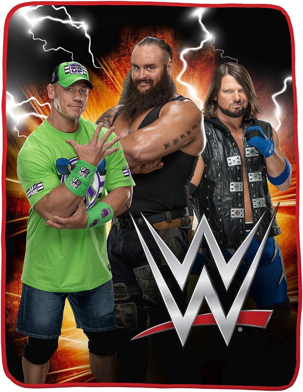 Wrestling WWE Logo Blast Plush Throw