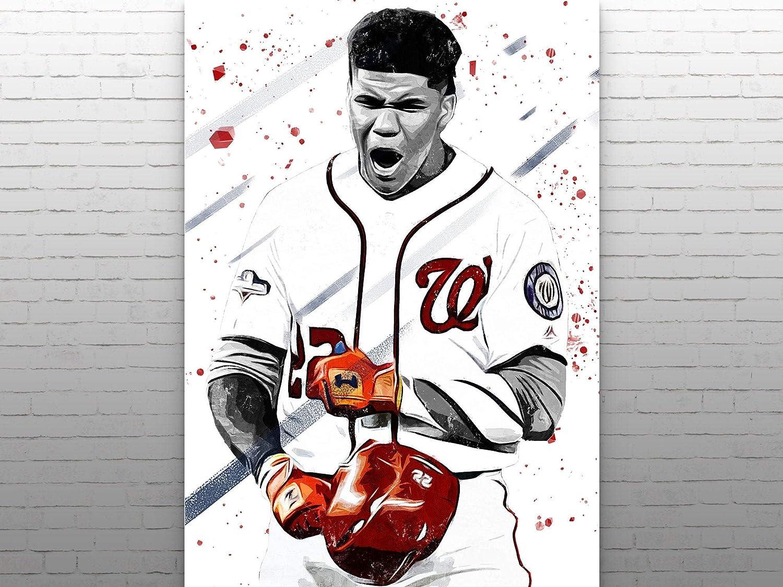 Baseball Gifts Kids Decor Baseball Poster Baseball Player Man Cave Poster Canvas Wall Art Juan Soto Poster  Sports Art Print