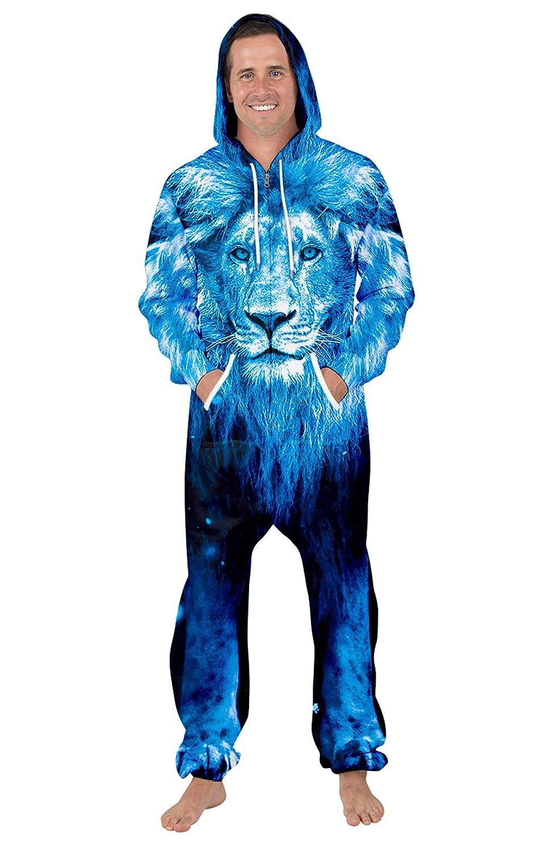 URVIP Unisex Family Sleepwear 3D Printed Jumpsuit Adult Nightwear Romper BES-027 XL