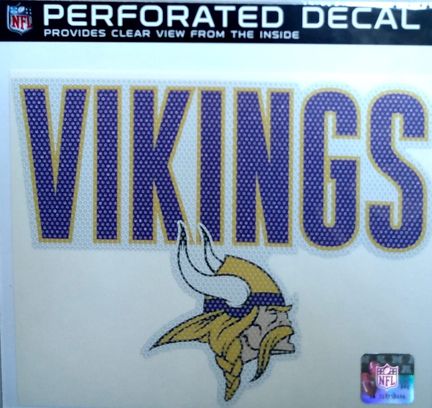 Stockdale Minnesota Vikings 8 Perforated Auto Window Film Glass Decal Football