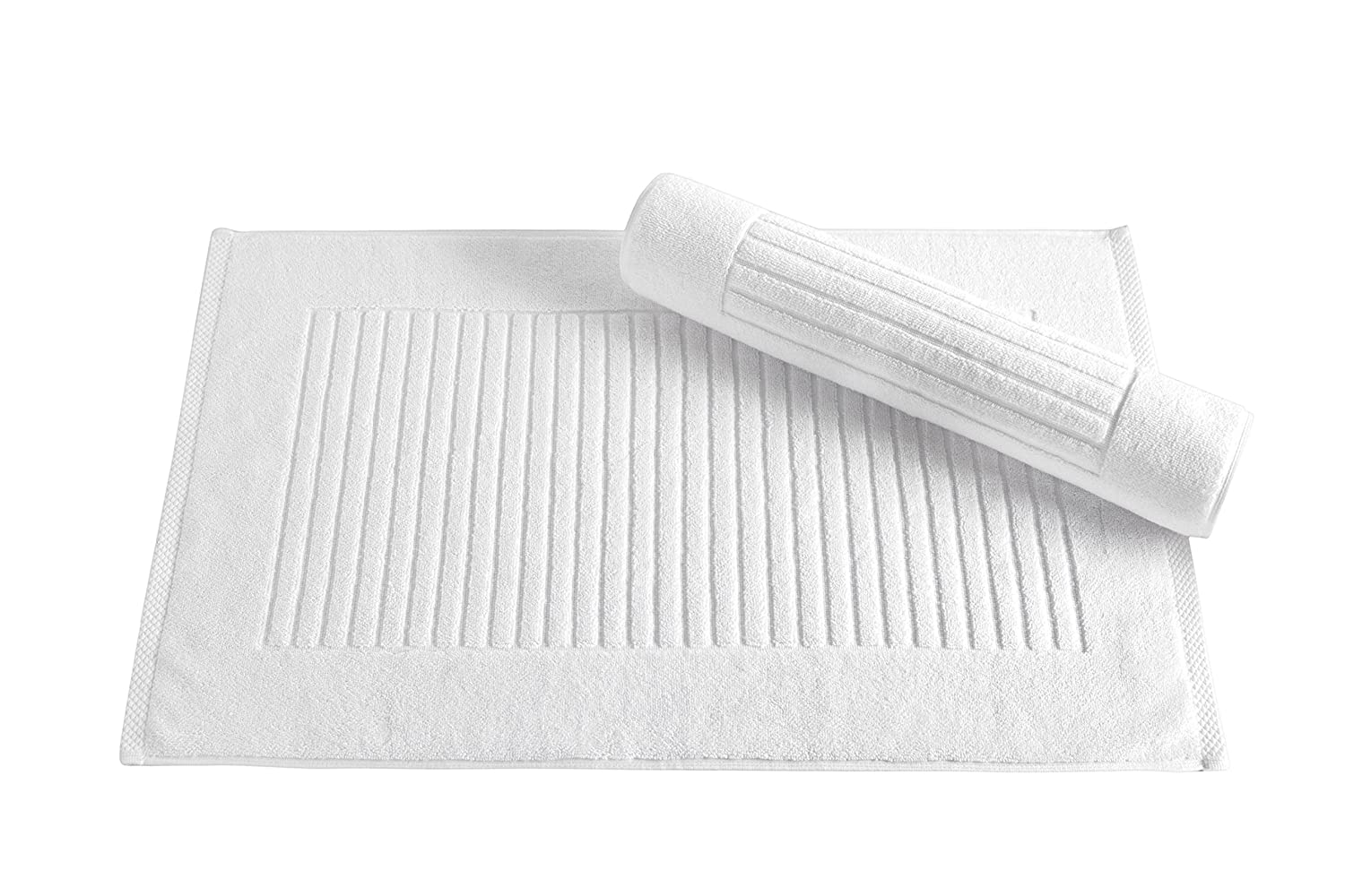 Classic Turkish Towels 6 Piece Luxury Washcloth Towel Set - 13 x 13 Inch Soft and Thick Large Bath Towel Washcloths Made with 100% Turkish Cotton (White) Makroteks Textile 5850358