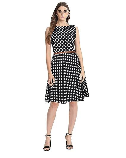 64b62d07838 Stylistico Women Drop Waist Belt Dress  Amazon.in  Clothing ...