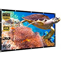 Yisiga 120 Inches Projector Screen,16:9 HD 4K Foldable Anti-Crease Portable Projector Movies Screen for Home Theater…