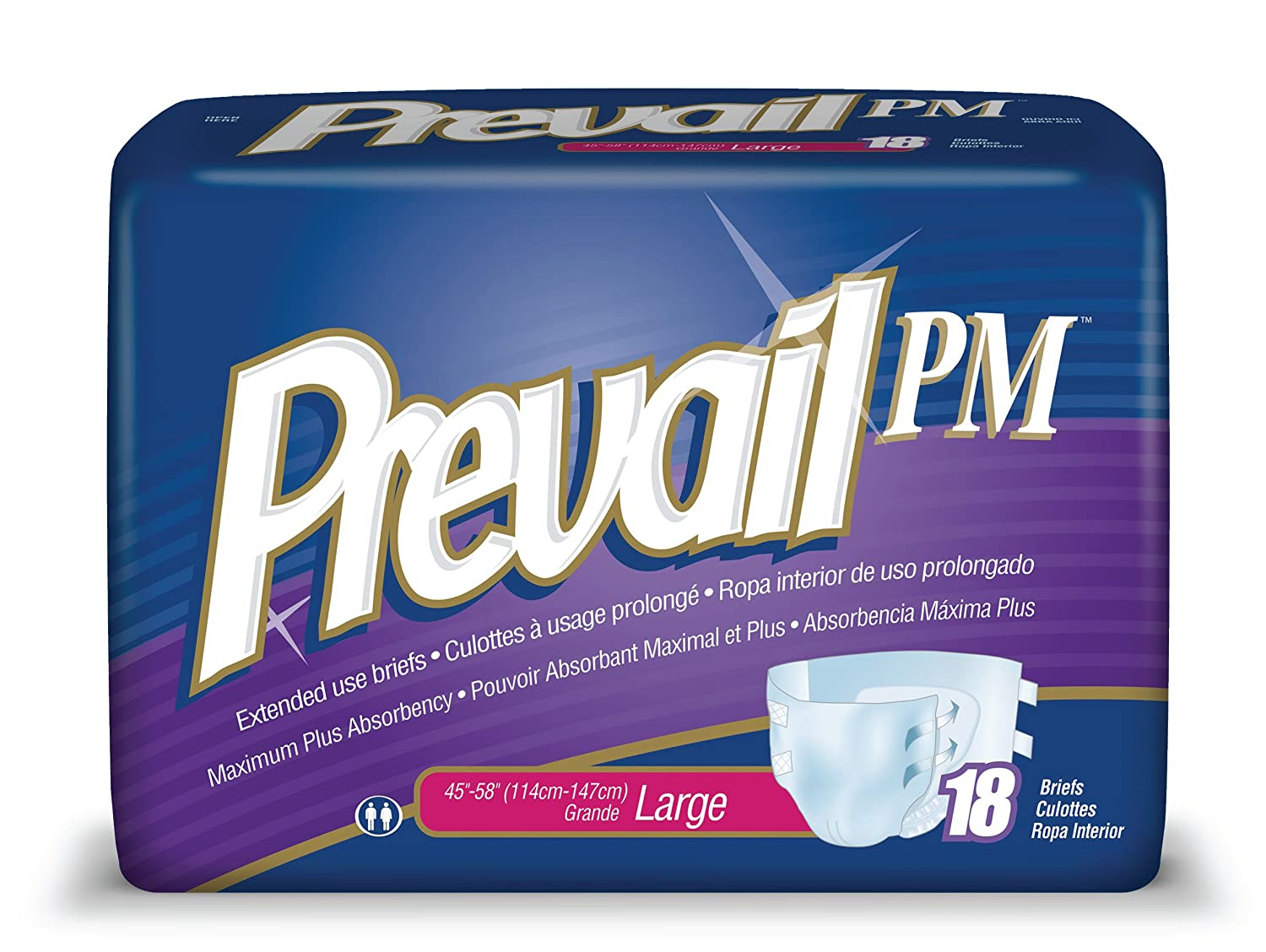 Amazon.com: Prevail Extended Use Incontinence Briefs, Large, 18-Count: Health & Personal Care