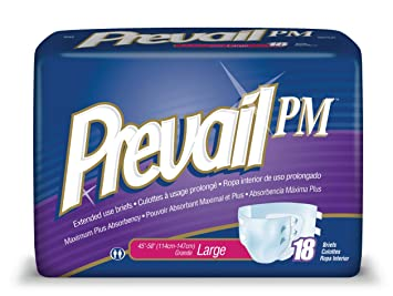 Prevail Extended Use Incontinence Briefs, Large, 18-Count