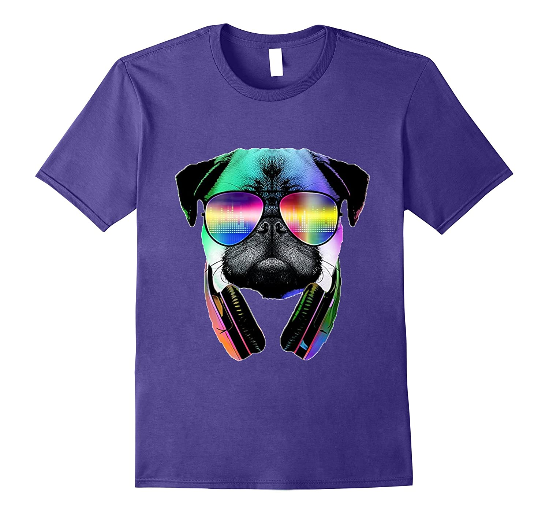 Cool Music Lover Pug T-Shirt-TH