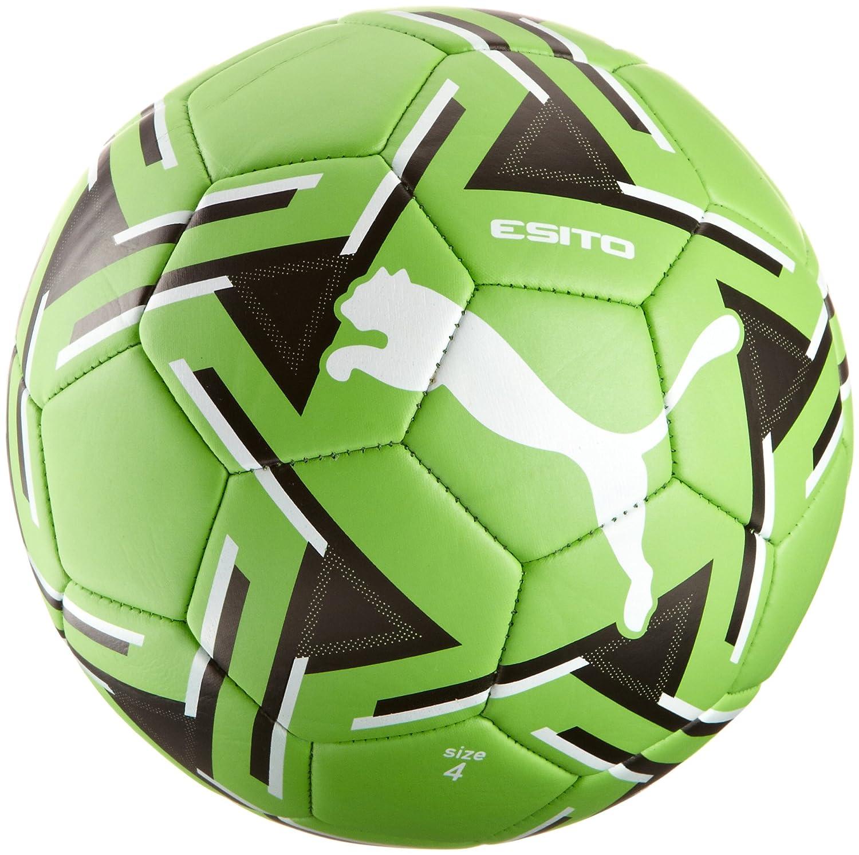 Puma - Balón de fútbol, tamaño 4 UK, Color Fluro Verde - Blanco ...