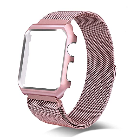 AHXLL Compatible for Apple Watch 38mm 42mm, Mesh Milanese Loop stainless Steel Replacement iWatch +