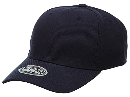 Top Of The World Fitted Hat Mens Style  HAT399-NAVY BLUE Size  7 3 8 ... 6b6a7048975