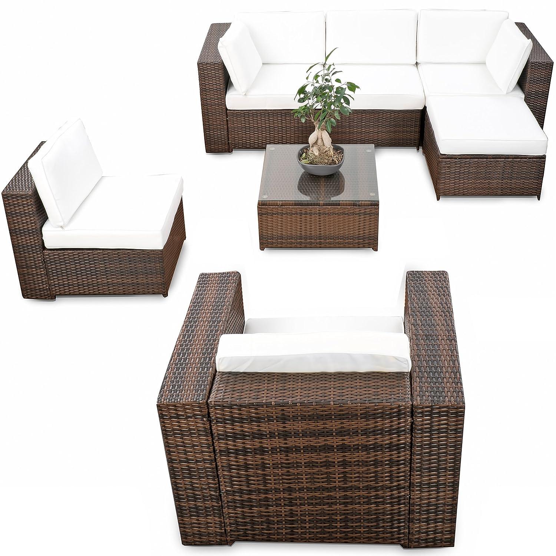 erweiterbares 21tlg xxxl lounge gartenm bel polyrattan braun mix sitzgruppe garnitur. Black Bedroom Furniture Sets. Home Design Ideas