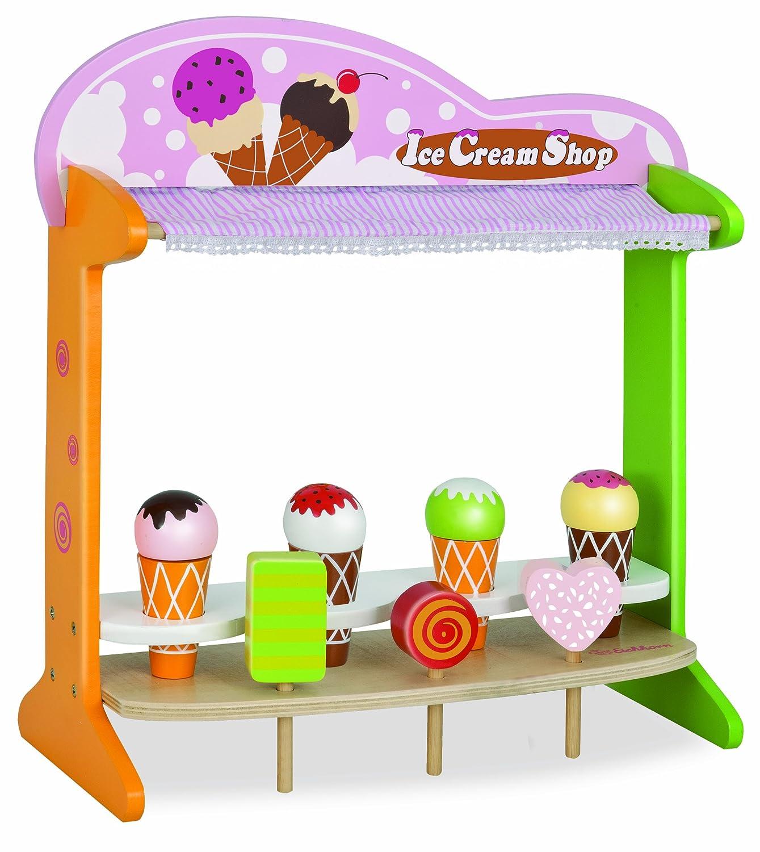 Eisdiele Spielzeug - Eichhorn Holz Eisshop - Eiswagen Spielzeug