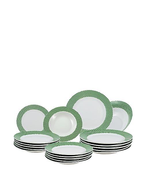 SANTA CLARA Vajilla 19 Piezas Vichy Q146V Verde