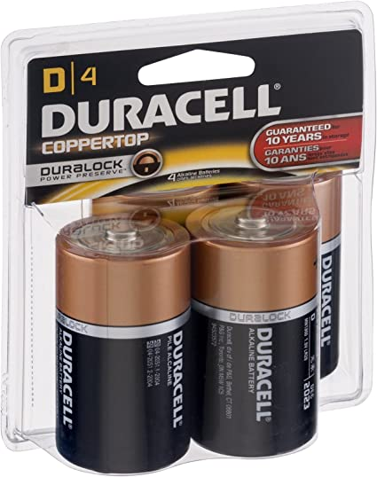 Amazon Com Duracell Alkaline Battery Size D 1 5 V 4 Ct 6 Pack Health Personal Care