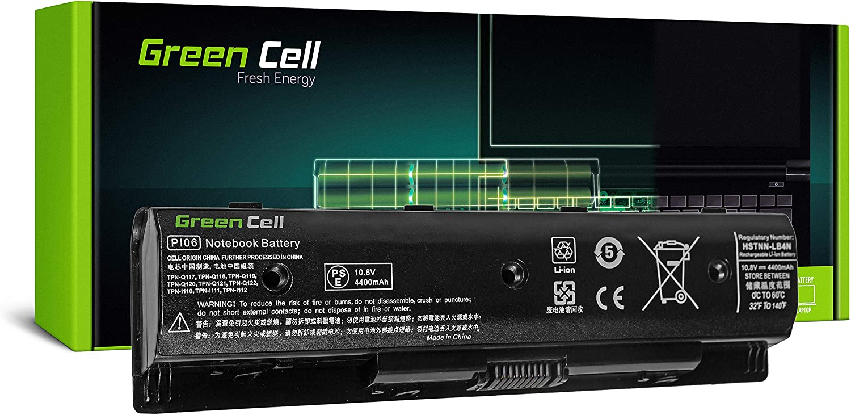 Green Cell® Standard Serie PI06 PI06XL PI09 HSTNN-UB4N HSTNN-YB4N 710416-001 710417-001 Batería para HP Pavilion 15 15-E 17 17-E HP Envy 15 15-J 17 17-J Ordenador (6 Celdas 4400mAh 10.8V Negro)