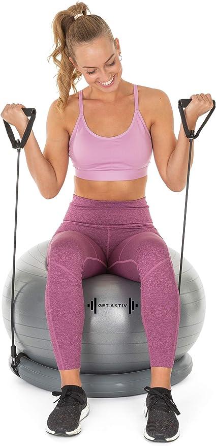 Amazon.com: Bola de ejercicio con bandas de resistencia Home ...