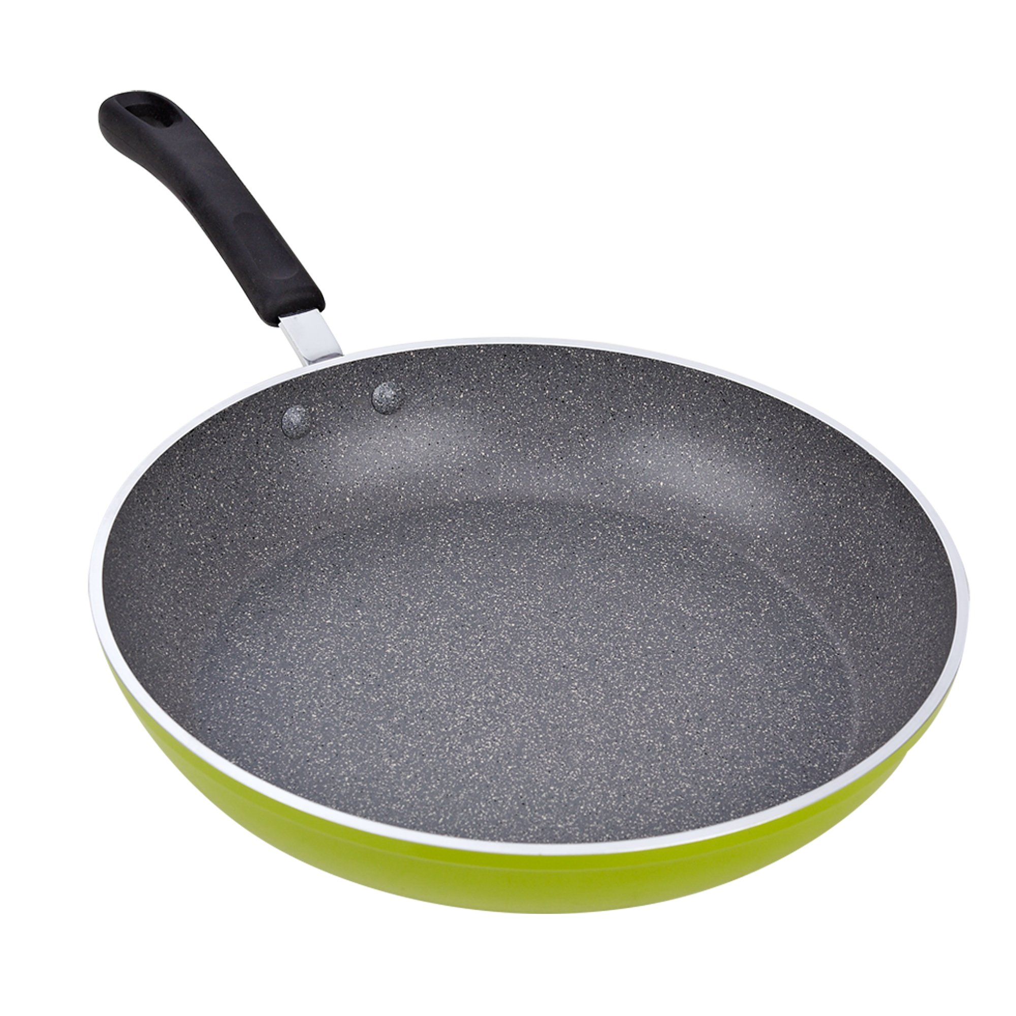 Cook N Home 02404 12-Inch Frying Pan with Non-Stick Coating Induction Compatible Bottom, Large, Green by Cook N Home