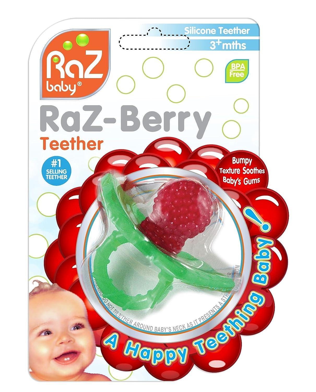 RaZbaby RaZ-Berry Teether, Red Raz Baby 009-RT