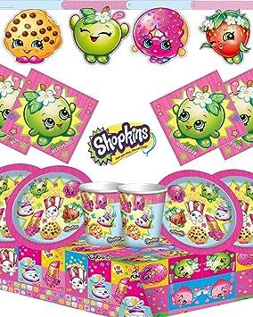Shopkins Deluxe Fiesta Cumpleaños Kit para 16 Infantil ...