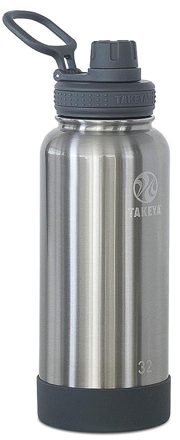 Takeya Botella de acero inoxidable aislada con tapa de ...