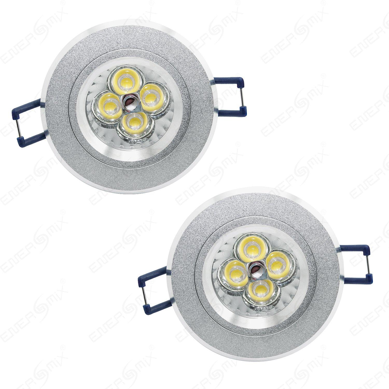 2x Led Einbauleuchten 4.5V 12V Einbaulampen Einbau Strahler Decken ...