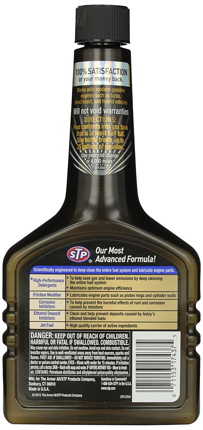 STP 17437 Ultra 5-in-1 Fuel System Cleaner - 12 fl. oz. by STP: Amazon.es: Coche y moto