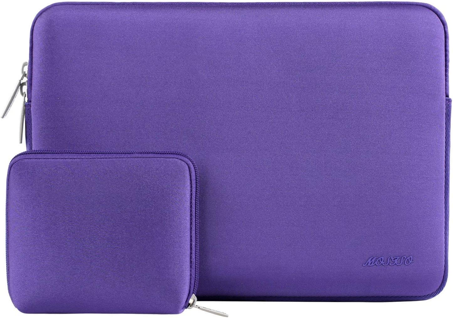 MOSISO Laptop Sleeve Compatible with 13-13.3 inch MacBook Pro, MacBook Air, Notebook Computer, Water Repellent Neoprene Bag with Small Case, Ultra Violet