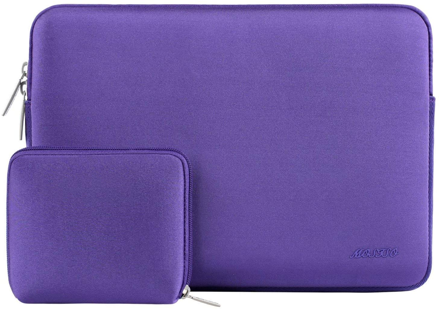MOSISO Laptop Sleeve Only Compatible with MacBook 12 inch A1534 with Retina Display 2017/2016/2015 Release, Water Repellent Neoprene Bag with Small Case, Ultra Violet
