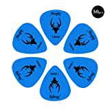 Mugig Guitar Picks, Guitar Accessories, Delrin Guitar Plectrums ,Pack of 50 (0.88MM)