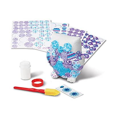 Melissa & Doug Decoupage Made Easy Owl Paper Mache Craft Kit With Stickers: Toy: Toys & Games