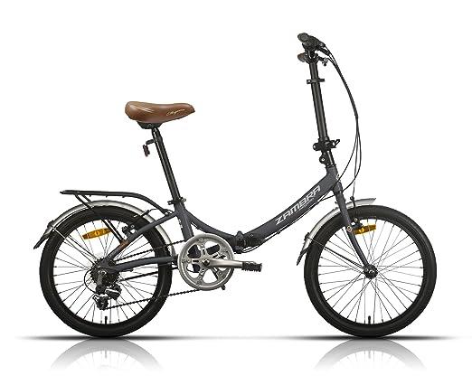 Megamo Zambra Bicicleta Plegable de Paseo, Unisex Adulto, Gris, M: Amazon.es: Deportes y aire libre