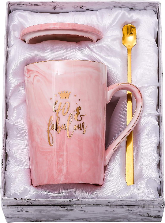 Amazon Com Shinnywis 40 And Fabulous Mug 40th Birthday Gifts For Women 40th Anniversary Gift Idea For Women Her Wife Mom Grandma Sister Bff Friend 14oz Birthday Mug Kitchen Dining