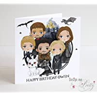 Cute Game of Thrones Birthday Card