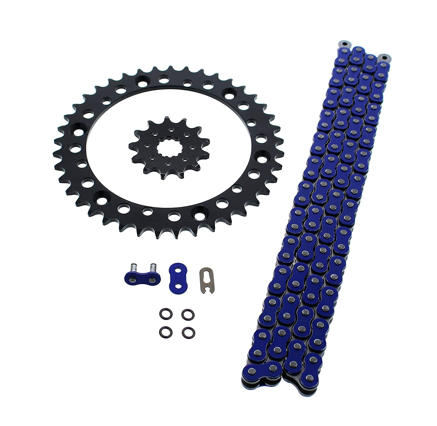 Blue O Ring Chain & Sprocket Black 13/40 92L 2001-2005 Yamaha YFM660R 660 Raptor CycleATV