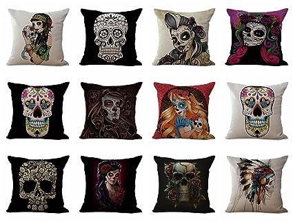 Amazon Lot Of 40 Cushion Covers Wholesale Dia De Los Muertos Unique Cheap Decorative Pillows Wholesale