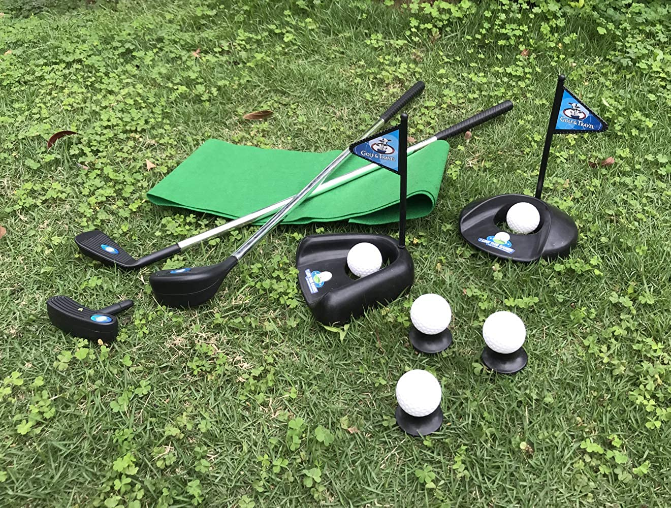 Amazon.com: Juego de palos de golf para niños con bandera de ...