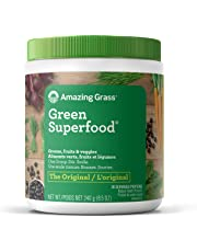 Amazing Grass Green Superfood Organic Powder with Wheat Grass and Greens, Flavor: Original, 30 Servings, 8.5 Ounces