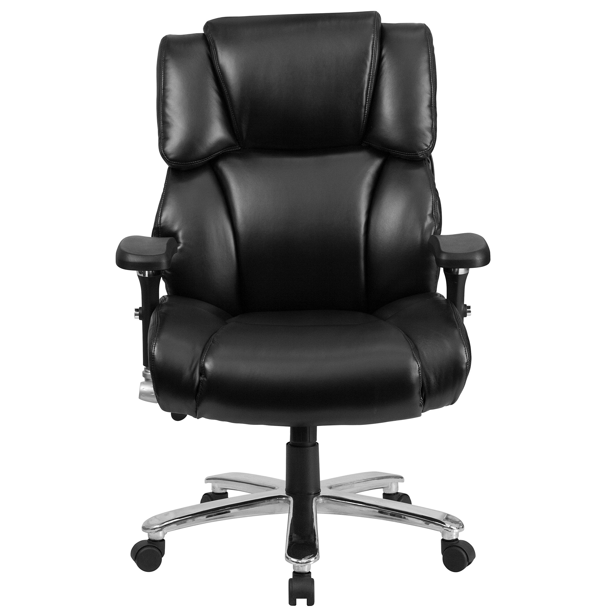 Flash Furniture HERCULES Series 24/7 Intensive Use Big & Tall 400 lb. Rated Black Leather Executive Swivel Chair with Lumbar Knob by Flash Furniture (Image #4)