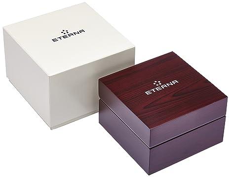 Amazon.com: Eterna KonTiki Date Automatic Watch, SW 200-1, Black, Leather strap: Watches