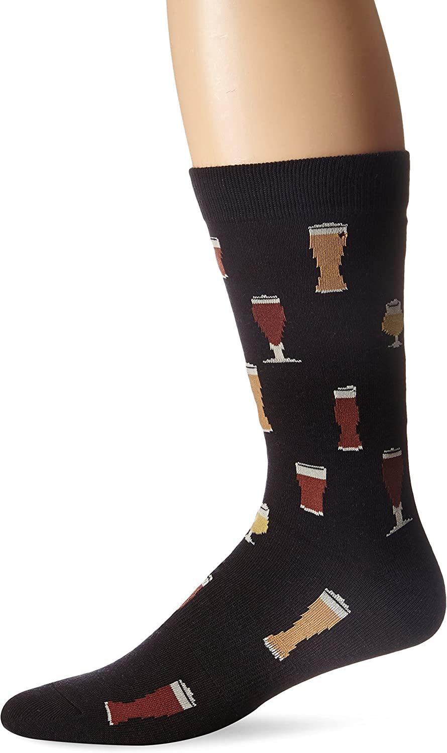 K. Bell Socks mens Food and Drink Casual Novelty Crew Socks