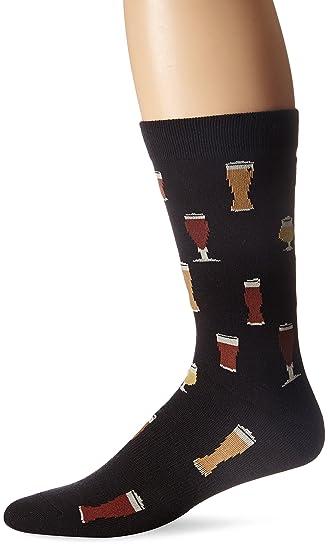 86a2eaedc74c K.Bell Black Label Men's Craft Beers Crew Sock, Black, 10-13/Shoe ...
