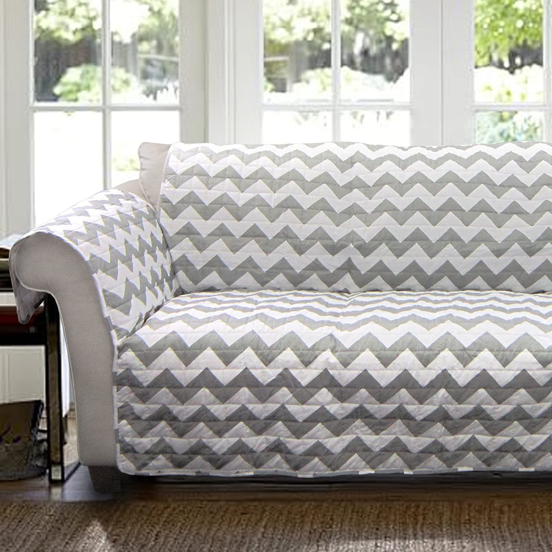Amazon Lush Decor Chevron Slipcover Furniture Protector for