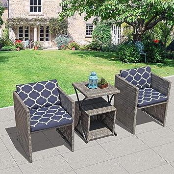 OC - Conjunto de Muebles de Patio de 4 Piezas, Color Naranja ...