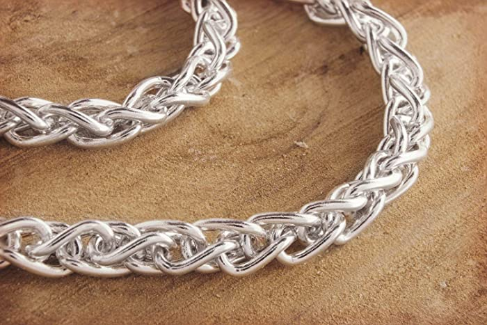 addbd00b7879d Amazon.com: Thick Silver Chain Necklace, 925 Sterling Silver, Solid ...