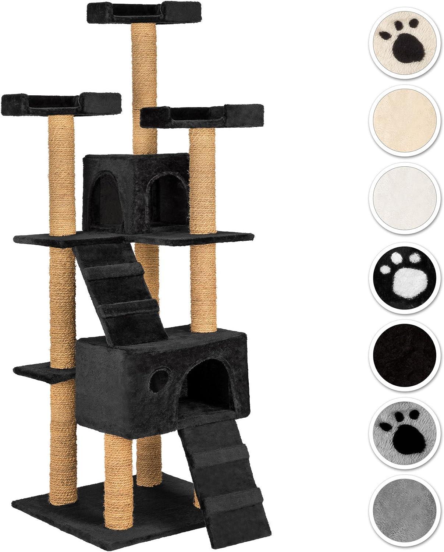 TecTake Rascador Árbol para Gatos 169 cm de Altura (Negro | No ...