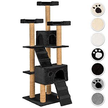 TecTake Rascador Árbol para gatos 169 cm de altura - disponible en diferentes colores - (negro | No. 402195): Amazon.es: Hogar