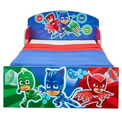 Hello Home PJ máscaras - Cama Infantil para niños, Madera, Azul: Amazon.es: Hogar