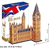 Cubic Fun 3D Jigsaw Puzzle Big Ben London England Scale Model Monument Building Decorative Educational Toy